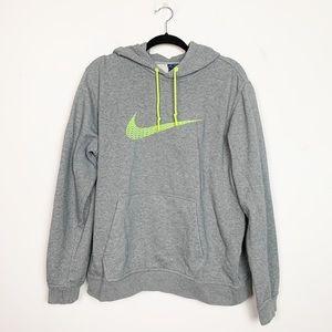 Nike Club Swoosh+ Fleece Hoodie Sweatshirt Gray XL